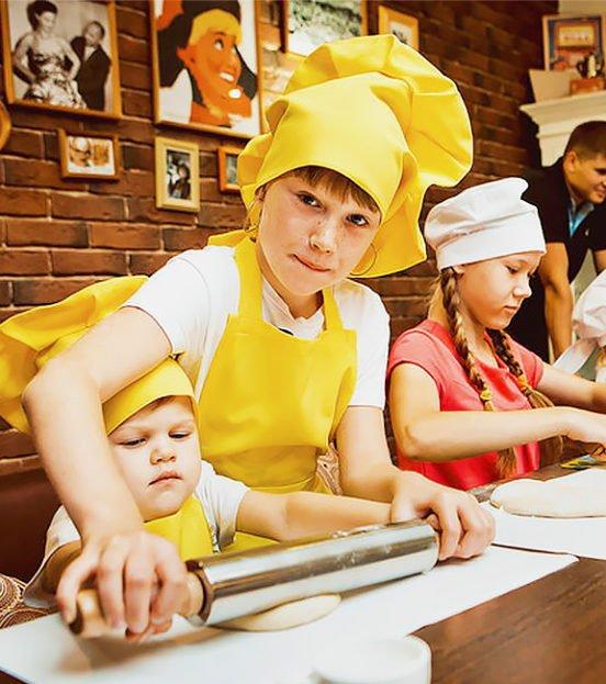 Пицца party - детский кулинарный мастер класс на день рождения ребенка в Уфе