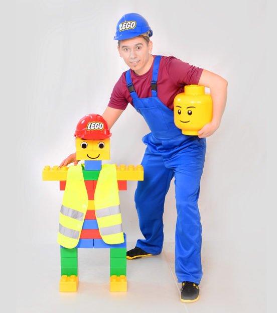 Аниматор Лего строитель на день рождения в Уфе