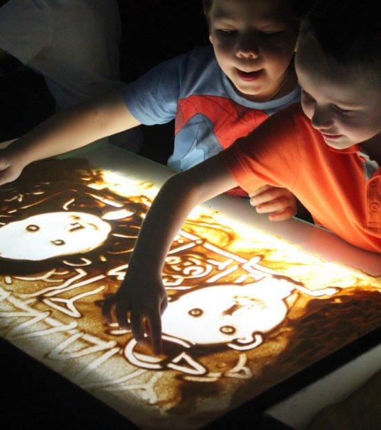 Песочная анимация на детский праздник в Уфе