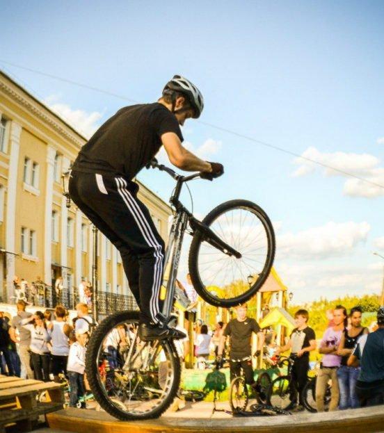 Экстремальное велотриал шоу на детский праздник в Уфе